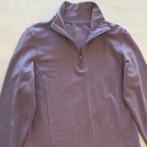 LL Bean Women's Sweatshirt/Pant  Knit Lilac Size L
